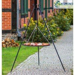 Schwenkgrill am Dreibein 180cm- Grillrost aus Rohstahl 50cm